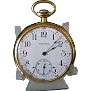 c1919 Waltham 19 Jewel Riverside 14k Solid Gold Pocket Watch Keeping Time