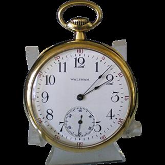 c1919 Waltham 19 Jewel Riverside 14k Solid Gold Pocket Watch Keeping Time