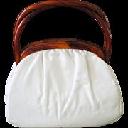 Vintage Etra Purse With Bakelite Handle & Trim Great Condition