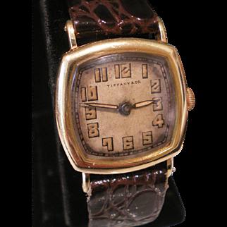 18K Tiffany & Co  International Watch Co IWC Military Wrist Watch