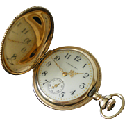 Antique Lady Waltham 16 jewel 14K Solid Gold Pocket Watch