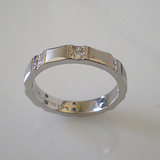 Platinum Diamond Eternity Band Ring Size 6 Perfect