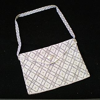 Art Deco c1920 Cut Steel Metal Micro Bead Purse Bag Amazing Condition