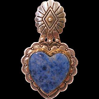 Sterling Silver Heart Pendant Enhancer Carolyn Pollack Southwest Designer