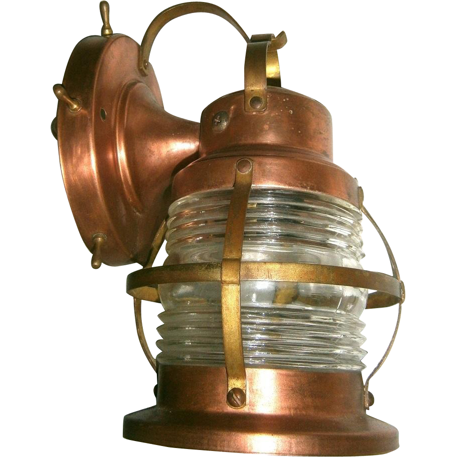 pair vintage marine style porch lights or lanterns from loftylighting