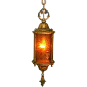 Vintage Crackle Glass Lantern