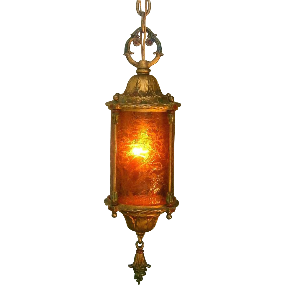 Vintage Crackle Glass Lantern From Loftylighting On Ruby Lane