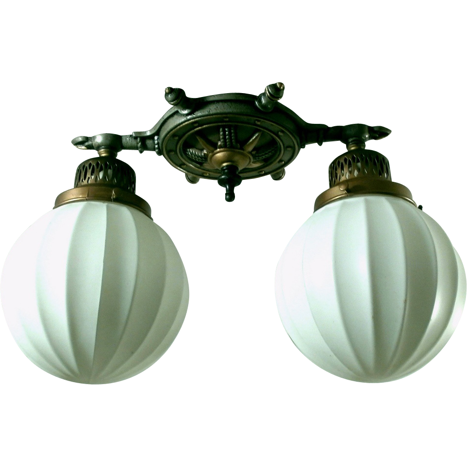 nautical style two light flush mount light fixture from loftylighting. Black Bedroom Furniture Sets. Home Design Ideas