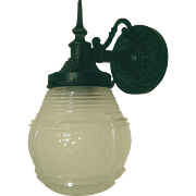 Vintage Cast Iron Virden Porch Light
