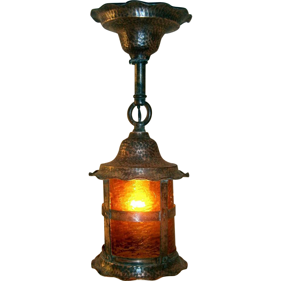 hammered copper lighting. antique hammered copper lantern porch light lighting