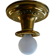 Vintage Virden Single-light Brass Flush Mounts