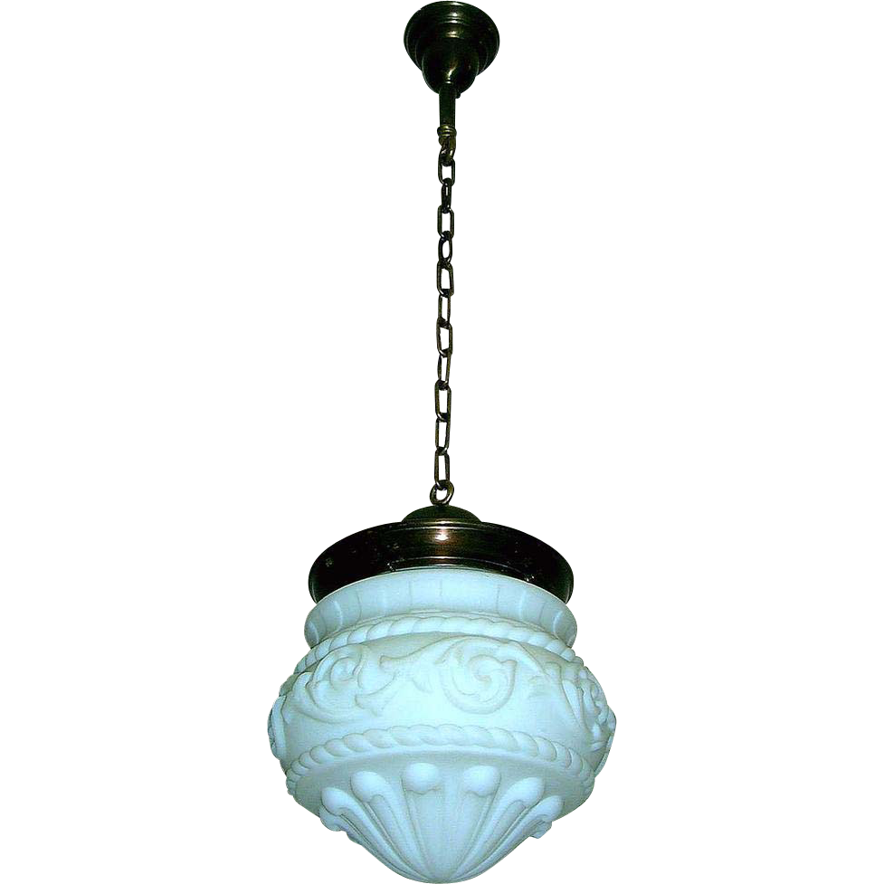 neoclassical lighting. Large Neoclassical Globe Pendant Light Fixture : Lofty Lighting | Ruby Lane A