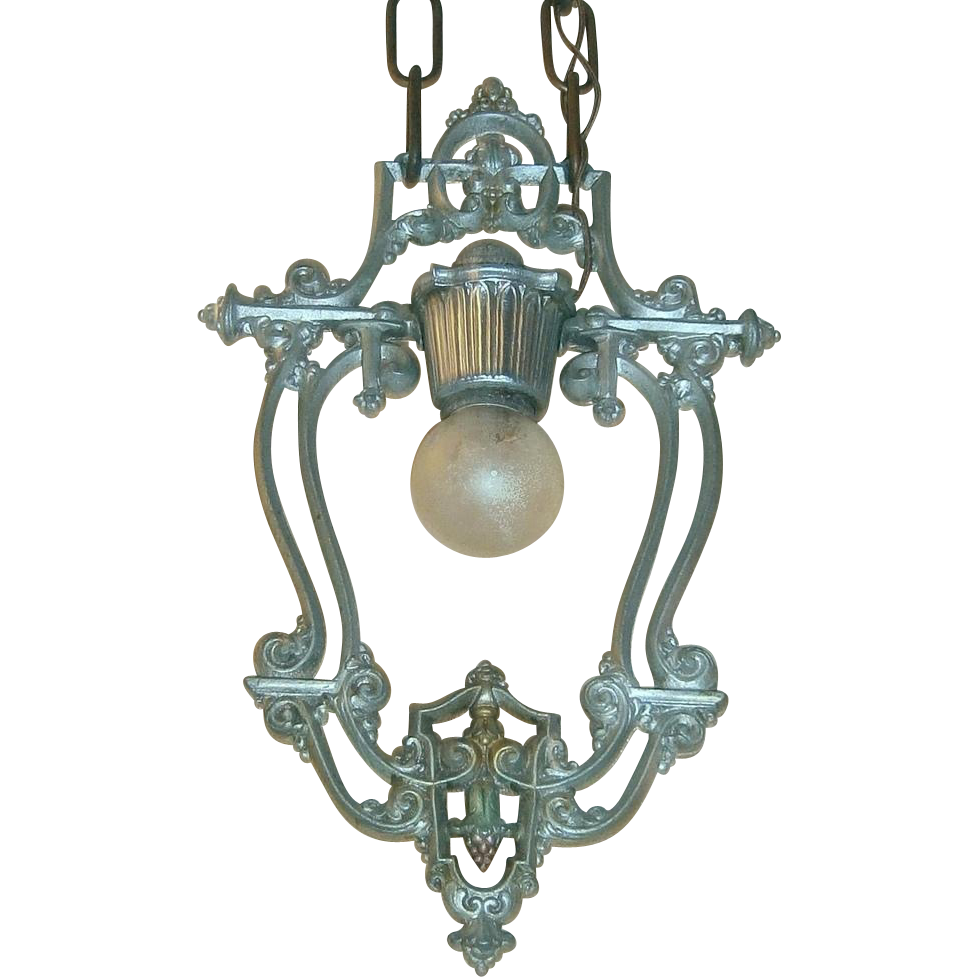 Light Fixtures Toledo Ohio: Riddle Silvery Polychrome 1-Light Revival Pendant Light