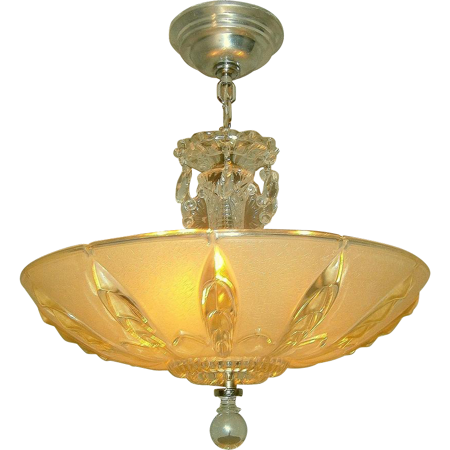 mid century glass 3 light pendant chandelier from