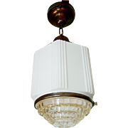 Pair Pristine Copper School House Light Fixtures