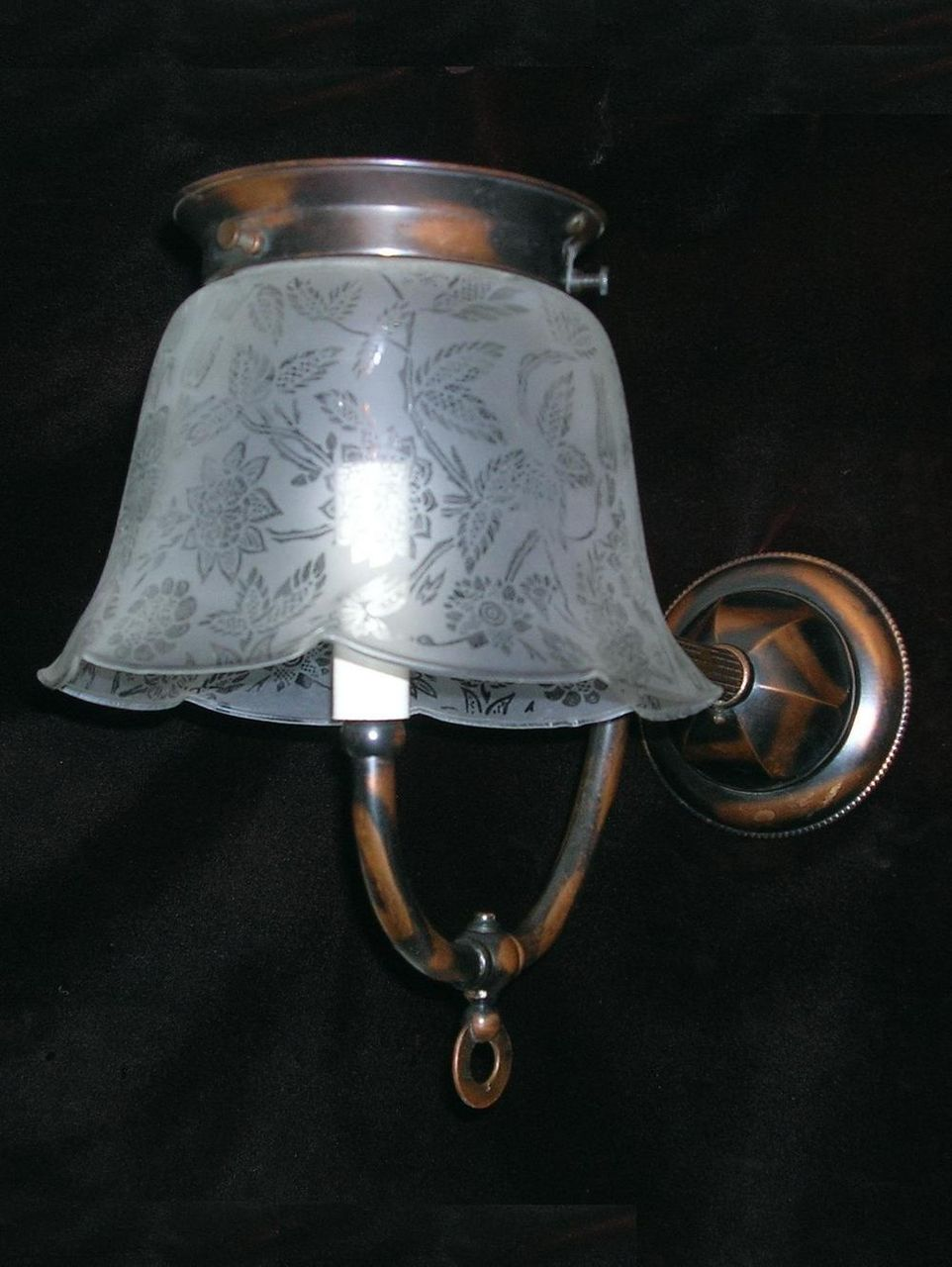 Antique Gas Wall Sconces : Antique Electrified Gas Wall Sconce from rubylane-sold on Ruby Lane