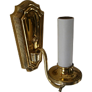Vintage Mid Century Brass Wall Sconces