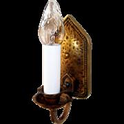 2 Pairs Levolite Brass Arts & Crafts Sconces