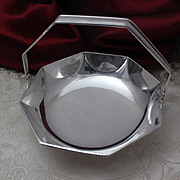 Tiffany and Company Sterling Silver Basket Octagonal Shape With Swinging Handle