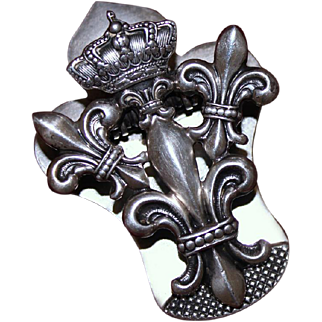Antique Sterling Silver Clip By Shiebler Aesthetic Period Circa 1900 UN-Monogrammed! Gorgeous Solid Silver Clip