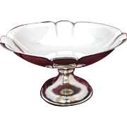 990 Purity Sterling Silver Compote by Toyokoki With Unweighted Base from Japan