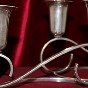 Pair of Sterling Lopez Candle Holders Vintage Solid Silver From Mexico