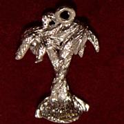 Sterling Hawaiian Palm Trees Charm Vintage Solid Silver Vintage Solid Silver Aloha State