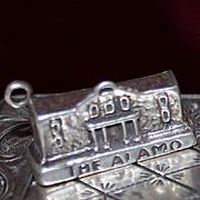 Sterling Alamo Charm Vintage Solid Silver Texas Souvenir Charm