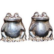 Tiffany and Company Sterling Frogs Vintage Set English Salt and Pepper Shakers Made in London 1960's Salt Pepper Pots