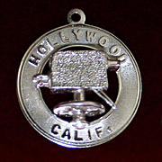 Vintage Sterling Hollywood Charm With Dimensional Movie Camera Solid Silver Los Angeles Hollywood Travel Theme Souvenir Charm