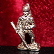 Sterling Daniel Boone Charm By Kinney Vintage 1960's Solid Silver