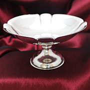 990 Purity Sterling Silver Compote With Unweighted Base from Japan