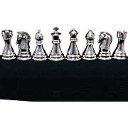 8 Silver Plated Chess Theme Salt Pepper Shakers Minty and Perfect for Dinner Party or Housewarming Gift By Towle - Red Tag Sale Item