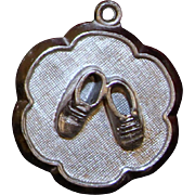 Adorable Sterling Baby Shoes Charm 3 Dimensional Perfect for New or Expecting mom