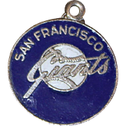 Rare Blue San Francisco Giants Sterling Charm From Red White Blue Uniforms Era of 1942