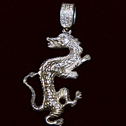 Sterling Asian Dragon Pendant