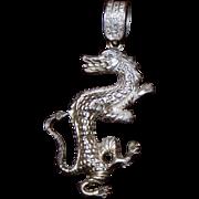 Sterling Asian Dragon Pendant