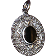 Sterling Charm or Pendant With Onyx