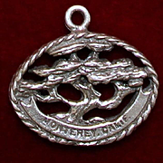 RARE Sterling Monterey and Carmel California Charm With Famous Monterey Cypress Vintage Solid Silver
