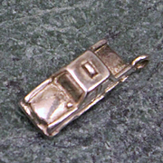 Sterling Taxi Cab Charm Vintage Solid Silver