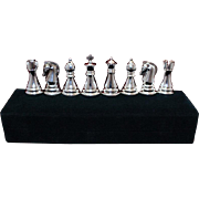 8 Silver Plated Chess Theme Salt Pepper Shakers Minty and Perfect for Dinner Party or Housewarming Gift By Towle