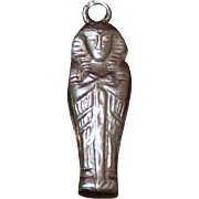 Exceptional Silver Sarcophagus Charm in 800 Silver From Egypt