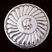 Sterling Silver Compact By Rex Fifth Avenue 1950's Vintage Elegance 150 Grams