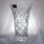 Impeccable Cut Crystal Vase From East Germany With Beautiful