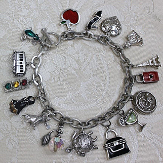 Nothing but Great Charms! 16 Fabulous Charms in 1 Sparkly Colorful Jingly Charm Bracelet