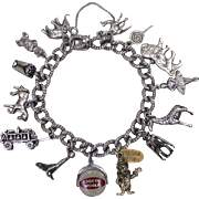 Delightful Sterling Circus Theme Charm Bracelet With 2 Genuine Ringling Bros Charms And  Menagerie of Jingly Circus Animals Charm Bracelet Vintage Solid Silver