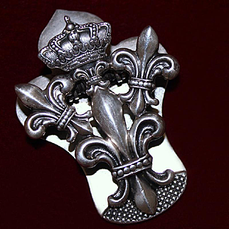 Antique Sterling Silver Clip By Shiebler Aesthetic Period Circa 1900 UN-Monogrammed! Gorgeous Solid Silver Clip *Perfect for a Queen's Desk!*