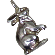 Vintage Sterling Bunny Charm Solid Silver Rabbit