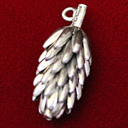 English Sterling Bananas 3 Dimensional Exceptional Charm Solid UK Silver