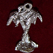 Sterling Hawaiian Palm Trees Charm Vintage Solid Silver from the Aloha State